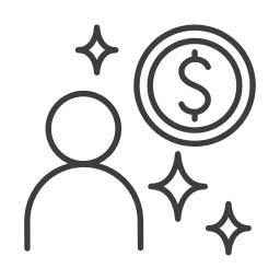 Influencer Budget Icon
